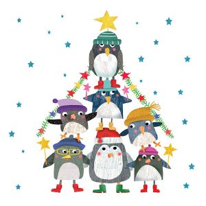 Cartoon Penguin Tree-0