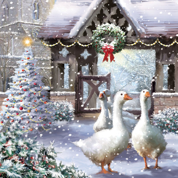 Geese and wreath-0