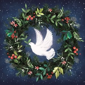 Charity Christmas Cards Dove. Peace. Wreath. Festive-0