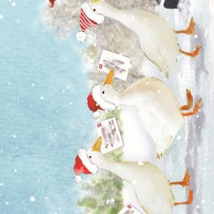 Charity Christmas Cards. Geese. Post. Cute.Festive.-0